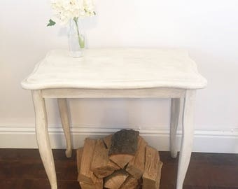 Neutral shabby chic coffee side table