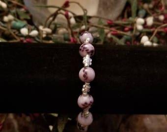 Lotus Jasper Metaphysical Stretch Bracelet or Anklet