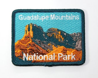 Official Guadalupe Mountains National Park Souvenir Patch Texas Scrapbooking FREE SHIPPING