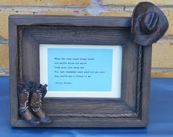Montana Lifestyles 3D heavy wood effect frame with a typed quote from Toy Story. Free postage. Great Christmas Gift.