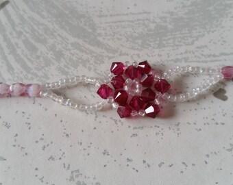 Bracelet chic ruby bicones