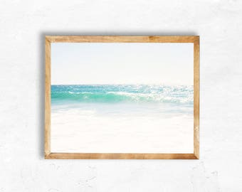 Malibu Photography Instant Digital Download Teal Waves sale Beach Photography California travel Print Wall Art DIY dorm apartment bedroom