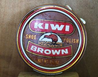 Vintage Kiwi Brand Shoe Polish Tin