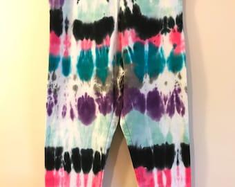 XL Tie Dye Leggings Girls Capris