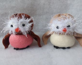 Ready made 12 cm Knitted Owl Toy