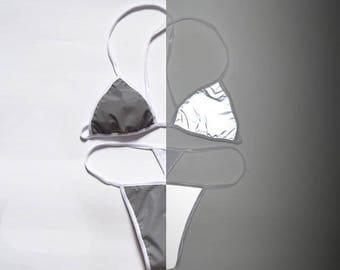 REFLECTIVE LAB Lingerie Reflective Fabric Bra and Panties Set Lingerie Set