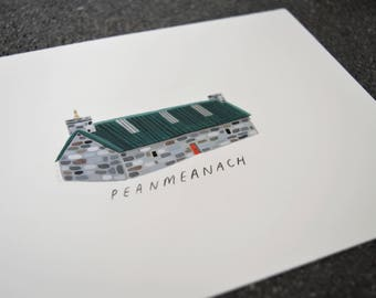 Original painting Peanmeanach bothy picture bothies scottish A5