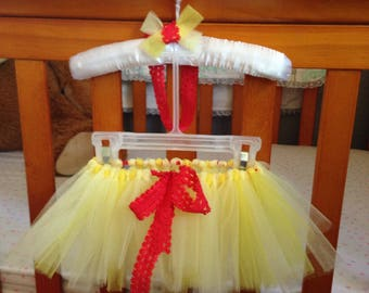 Newborn tutu, Baby tutu, infant tutu, Belle inspired tutu, princess tutu, beauty tutu, baby girl gift, baby shower gift, pet tutu