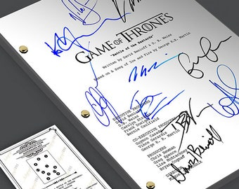Game of Thrones - Battle of the Bastards Episode TV Script Screenplay Signed Autograph Reprint  Kit Harington, Emilia Clarke, Peter Dinklage
