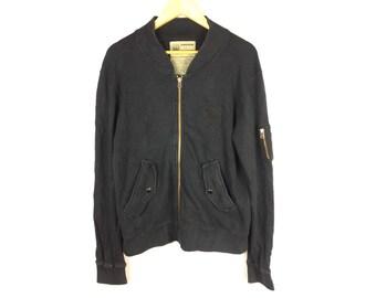 BUNDESWEAR Sweater Jackets Army Medium Size long Sleeve Fully Zipper