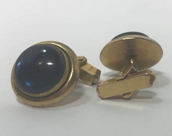 "50% OFF | Vintage Blue ""stone"" Cuff Links"