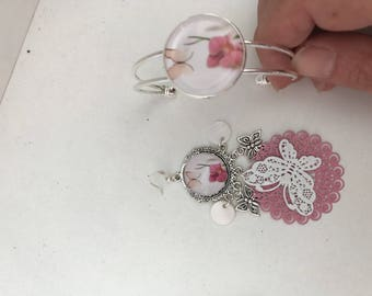 Set with bracelet earrings