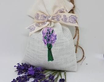Bulgarian handmade  aromatic dried lavender bag