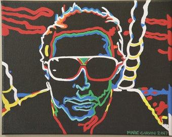 "30"" x 40"", Custom, colorful, neon portrait"