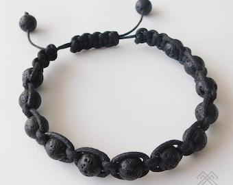 Lava Stone bracelet - Mens bracelet - Lava beads bracelet - Lava Rock Stone