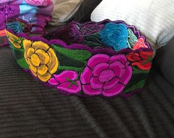 Embroider flower belt