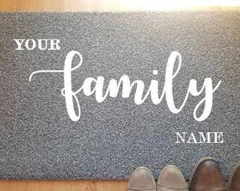 Custom Design/Family Name Doormat