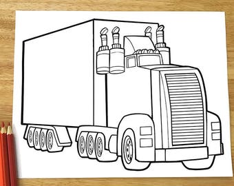 Big Tough Truck Coloring Page! Downloadable PDF file!