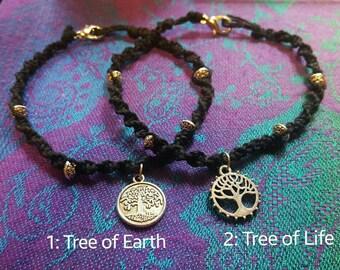Tree of Life/Earth Hemp Anklet