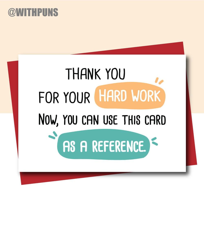 funny new job card farewell cards leaving card hard work