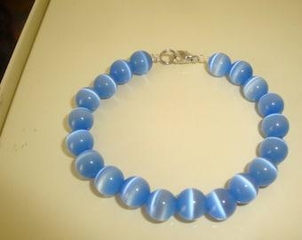 light blue cat's eye bracelet
