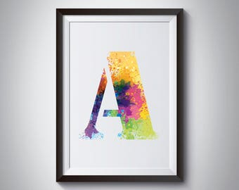 Personalised Typographic Letter Print