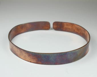 Minimalist Oxidised Copper Bangle