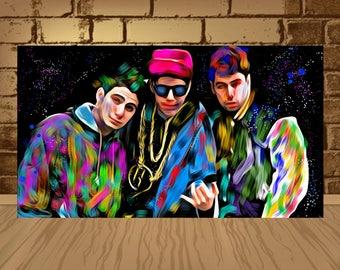Beastie boys poster etsy for Beastie boys mural