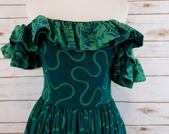Vintage Barboglio Cristina Jan Ruffle Dress