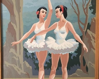 Paint by number ballerinas
