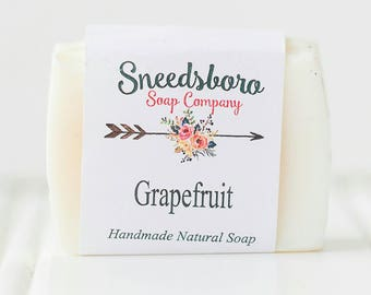 Homemade Grapefruit Soap - Natural Bar Soap - Citrus Soap - Valentines Gift for Her - Romantic Gift For Her - Soap - Homemade Bar Soap,
