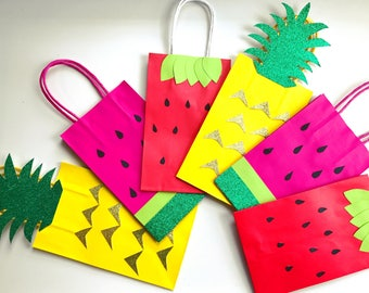 Tutti fruitti party favor bags