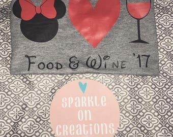 Food and wine shirt.