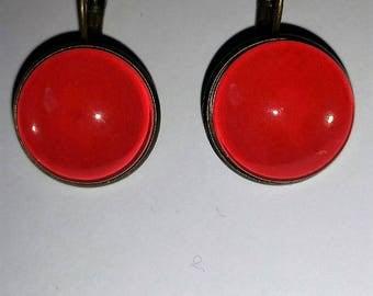 Earrings red Stud Earrings