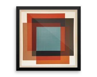 Framed poster of original art print