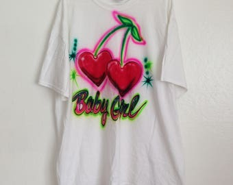 Babygirl Airbrush Oversize T Shirt / Dress