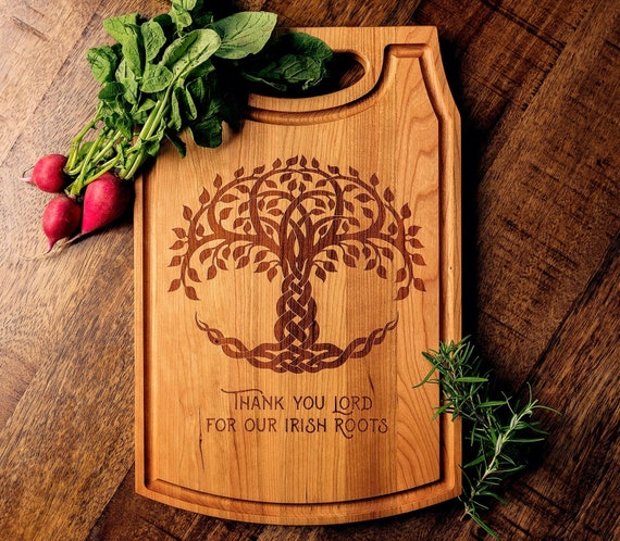 Engraved Cutting Board, Charcuterie, Irish, Celtic, Wedding, Engagement, Anniversary, Housewarming, Gift for Parents, St. Patrick's Day