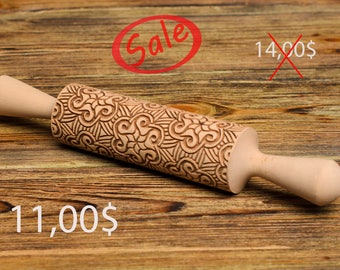 Sale Personalized Rolling Pin for Cookies, Custom Engraved Rolling Pin. Custom Rolling Pin. Present wedding.