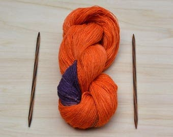 Lace yarn, Knitting yarn, Orange, BlackBerry, yarn, lace, wool, silk, a threads, Merino
