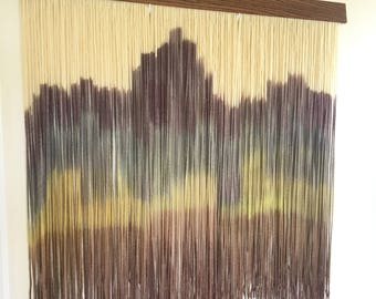 Multi colored dip dyed tapestry