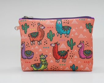 Llama Makeup Bag Cactus Cosmetic Bag Makeup bag Zipper pouch Accessory bag Travel bag Pencil Case Toiletry bag Cosmetic Case