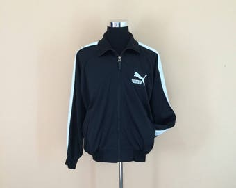 Vintage 90's Puma Small Logo Embroidery Zipper Jacket Nice Design