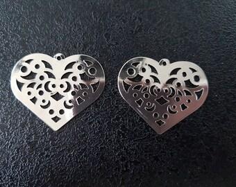 heart charm for earrings