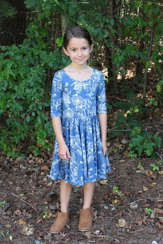 Fall dress circle skirt dress fall twirl dress girls twirl dress fall dress circle skirt dress fall twirl dress girls twirl dress blue izmirmasajfo Image collections