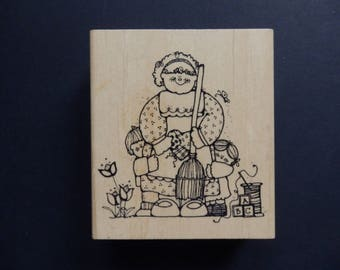 Housework Helpers - Hooks - Line & Inkers - Mom Rubber stamp  - WM (1)
