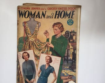 1930s woman and Home magazine