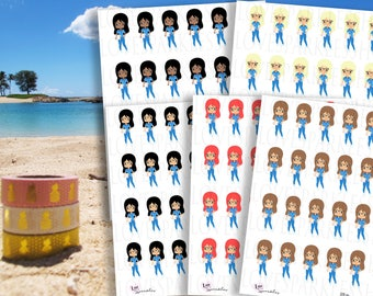 Nurses | Chibi | Work | Medical | Health | Doctors | Appointment | Check Up | Functional | Planner Sticker | Matte | Scrapbooking