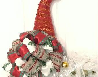 Christmas Santa Hat, Santa Hat, Christmas Hat Decor, Christmas Door Hanging, Santa Hat Hanging, Santa Hat Door Decor, Christmas Decor