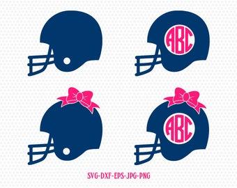 Helmet Monogram SVG, Football Helmet SVG, Football Monogram SVG, Svg Files, Football Svg,for CriCut Silhouette cameo Files svg jpg png dxf