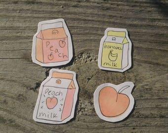Milky + Peachy Stickers!